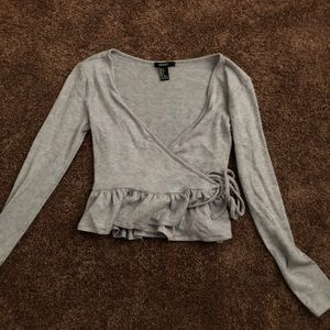 Forever 21 tie up sweater